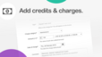 Add credits & charges