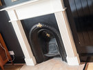 CastleEsplanade-11 - Traditional fireplace in double bedroom of Edinburgh holiday let