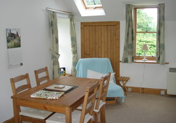 Dining room area in Lodge Cottage, Gullane