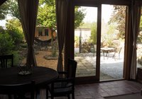 garden view from dining area