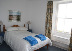 Double bedroom with stunning sea views