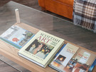 OceanDrive-7 - Books on the local area, Scottish art and home decor on glass coffee table