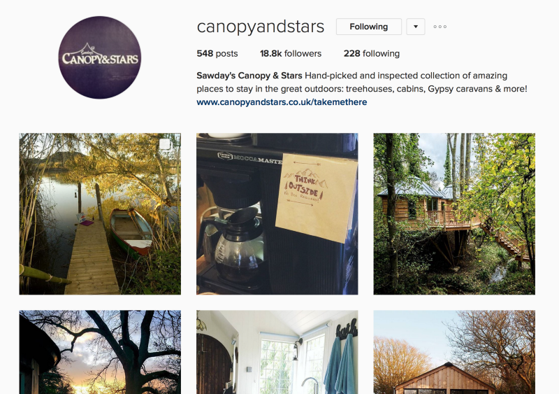 canopyandstars_on_instagram-2 - Vacation rentals agency using instagram
