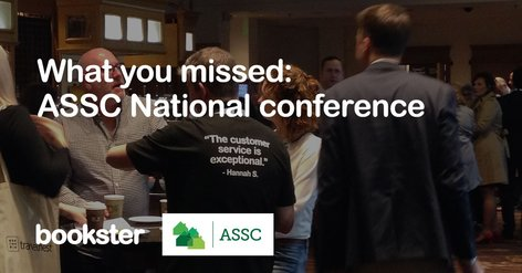 ASSC National Conference 2018 Summary - Bookster Holiday Rental Software at the ASSC National Conference 2018.