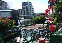 Canal Boat in Edinburgh City Centre