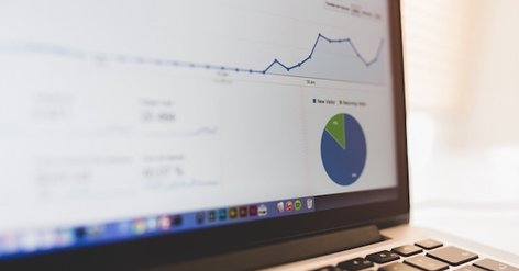 analytics on a laptop