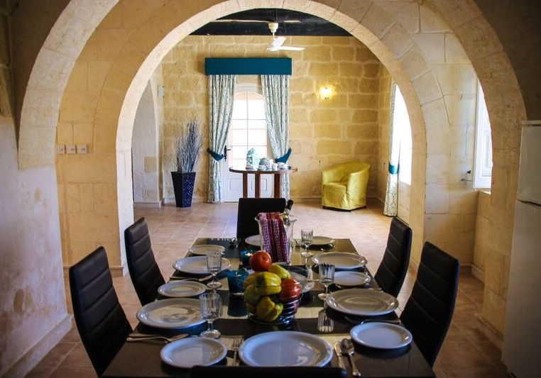 Dining Area in Malta villa