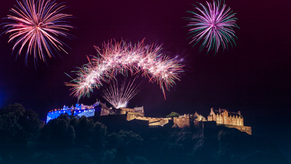 Hogmanay fireworks from the Castle