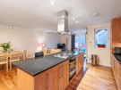 The Park (Holyrood Road) 2 - Modern kitchen and family dining area at Edinburgh holiday let