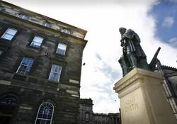 Parliament Square building Royal Mile Edinburgh