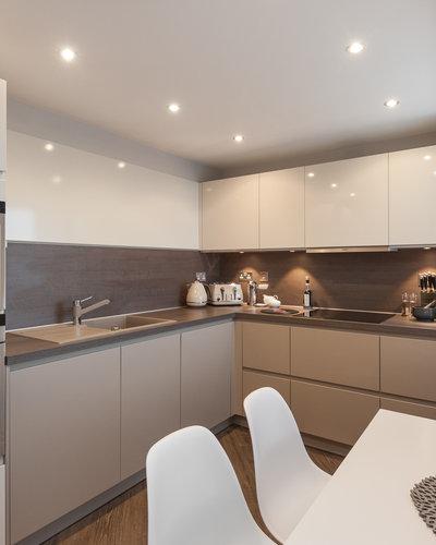 Ocean Drive 3 - Sleek, modern family kitchen in Edinburgh holiday let