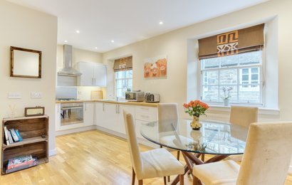 25_Gloucester_Lane-29 - Modern and bright open plan dining / kitchen in New Town Edinburgh apartment.
