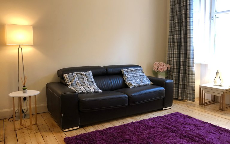 IMG_2097 - Plush leather sofa in comfortable living room