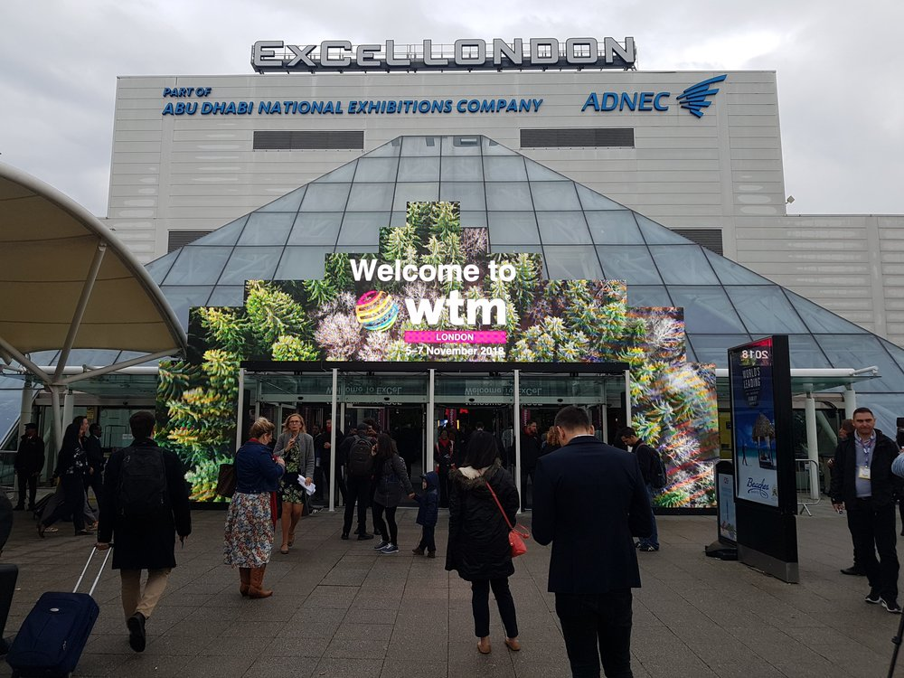 WTM entrance 2018 - Holiday rental managers arriving at WTM 2018