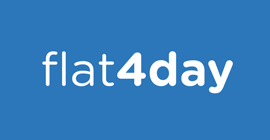 Flat 4 day logo - Bookster's marketing channel Flat 4 day