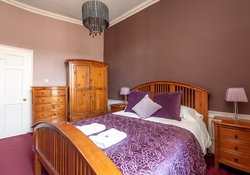 Double bed and other amenities