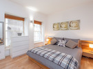 Edmonstone's Close (Grassmarket) 2 - Double bedroom with plentiful guest storage and wall canvas in Edinburgh holiday let