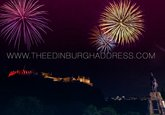 Edinburgh Fringe Festival Fireworks over Edinburgh Castle