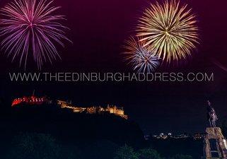 Edinburgh Fringe Festival Fireworks over Edinburgh Castle