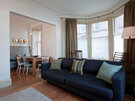 Holiday apartment North Berwick - Sociable space - living room and dining area.