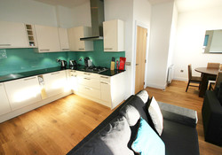 Self catering Gullan open plan kitchen and sitting room