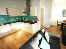 Self catering Gullan open plan kitchen and sitting room - Open plan kitchen and sitting room
