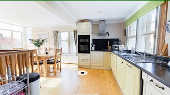 Screenshot (86) - Open plan kitchen and dining area in Gullane family holiday let