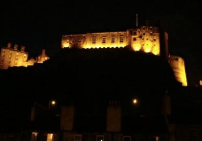 View of Edinburgh Castle at night