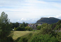 View from master bedroom towards Arthur's Seat.
