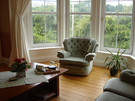 Baywindow in the lounge - Comfortable lounge with beautiful bay window with a lovely, peaceful outlook.
