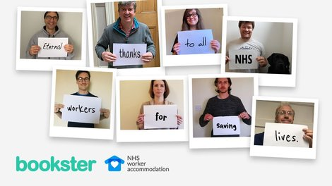 Bookster Support NHS Worker Accommodation - The team behind the NHS worker accommodation