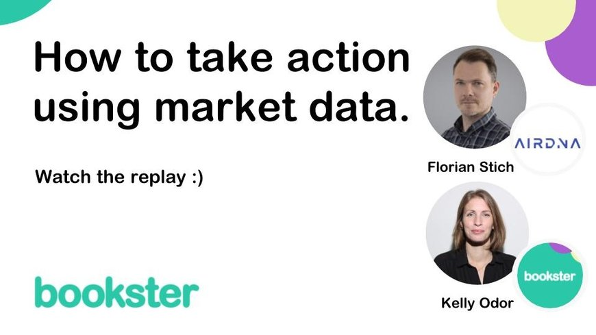 How to take action using market data - From owner acquisition to daily operations: a data driven approach to managing short term rentals. Special guest Florian Stich will cover how to action in your holiday rentals using market data.
