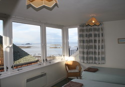 Master bedroom overlooking The Firth of Forth North Berwick