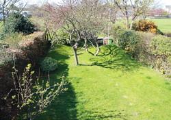 View of garden from master bedroom