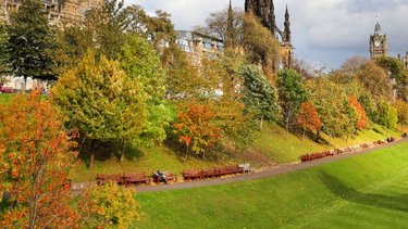 Autumnal colours in Princes Street Gardens Edinburgh