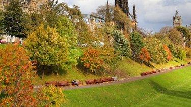 Autumnal colours in Princes Street Gardens Edinburgh
