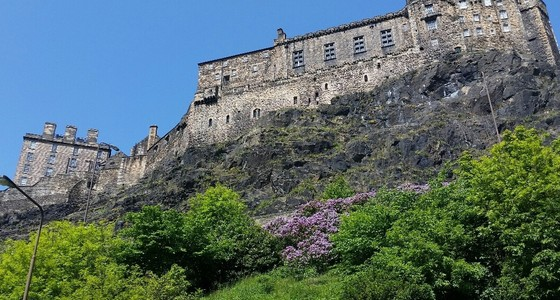 Edinburgh Castle view from the complex