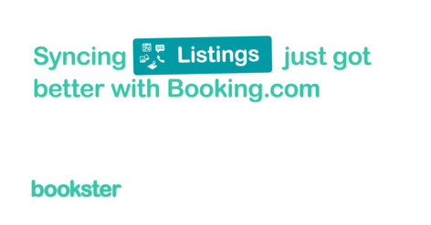 Booking.com Content - New enhancements to Booking.com and Bookster channel manager connection