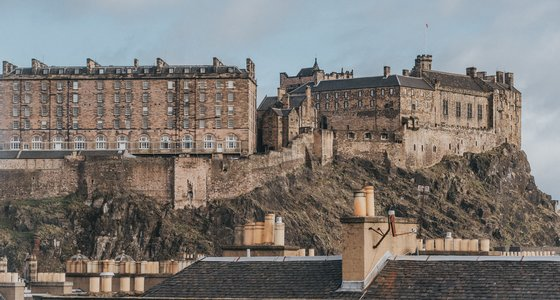 View of Edinburgh Castle from Bedroom and Living Room
