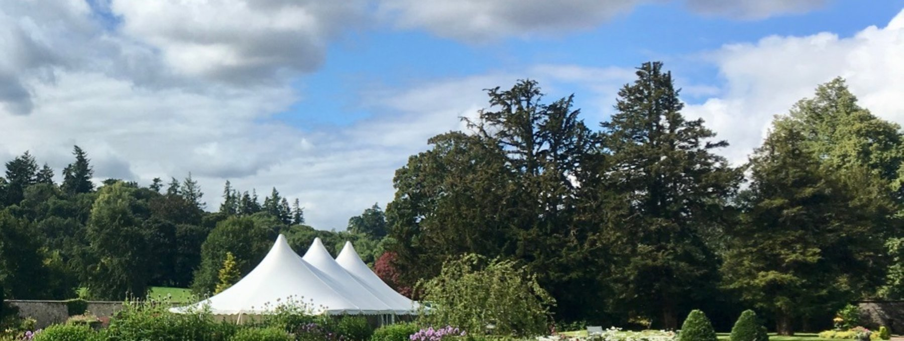Marquee in the walled garden - There's plenty of room for a large marquee in the walled garden at Murthly Estate for your wedding reception, corporate event or private hire. (© Murthly Estate)
