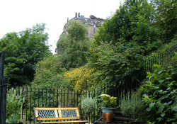 patio are of ESC Castle Wynd apartment