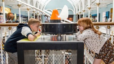 Children taking part in an activity at the National Museum of Scotland in Edinburgh