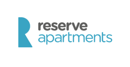 Reserve Apartments logo - Bookster's marketing channels Reserve Apartments