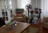 Living area in self-catering accommodation in Edinburgh