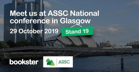ASSC National Conference 2019 - Meet Bookster at the Association of Self-Caterers Scotland National Conference 2019 in Glasgow.